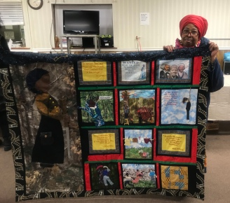 Harriet Tubman quilt created by Rasheeda Bey